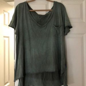 Free People Oversized Distressed T-Shirt